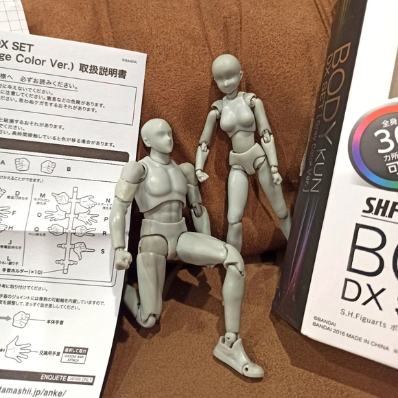Body-kun and Body-chan art drawing figurines